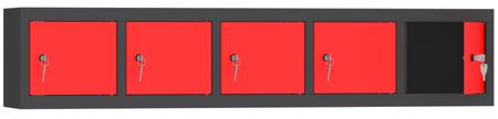 00153628 Szafa wisząca, skrytkowa, 5 drzwi (wymiary: 300x1480300 mm)