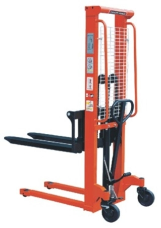 00543621 Wózek podnośnikowy ręczny z widłami regulowanymi oraz dodatkowa pompą nożną (udźwig: 2000 kg, min./max. wysokość wideł: 85/1600 mm)