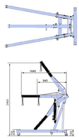 00546296 Żuraw/wysięgnik (udźwig: 2000 kg)