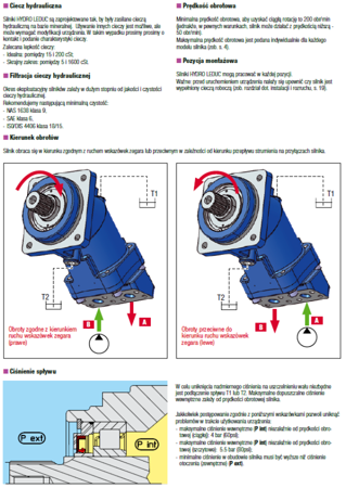 01538886 Silnik hydrauliczny tłoczkowy Hydro Leduc M5 (objętość robocza: 5 cm³, maksymalna prędkość ciągła: 8000 min-1 /obr/min)
