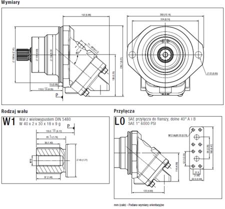 01538914 Silnik hydrauliczny wielotłoczkowy osiowy Hydro Leduc MSI80 (objętość robocza: 80 cm³, maksymalna prędkość ciągła: 4500 min-1 /obr/min)