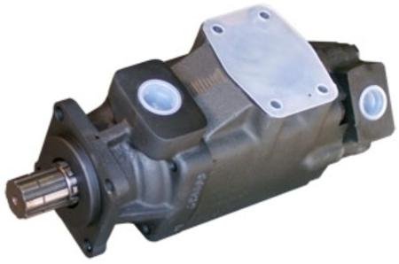01539217 Pompa hydrauliczna łopatkowa dwustrumieniowa B&C HQ31G2814 (objętość geometryczna: 91,2+45,9 cm³, maksymalna prędkość obrotowa: 2500 min-1 /obr/min)