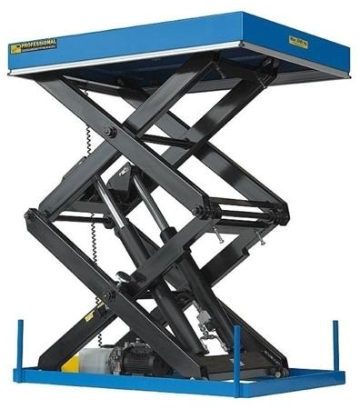 01843677 Podnośnik, podest nożycowy EHL2-10/300-2C (udźwig: 1000 kg, wymiary: 2200x1200mm, skok: 3000mm, moc: 2,3kW)