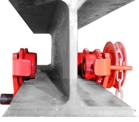 0301437 Wózek ręczny jezdny z łańcuszkiem i napędem PS-SGA 3,0 (udźwig: 3,0 T, szerokość półki: 74-200mm)