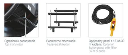08115158  Wciągarka budowlana, linowa elektryczna Camac Minor Millennium Polipasto (udźwig: 500 kg)