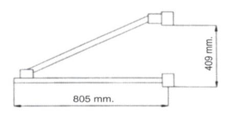 08126415 Ramie robocze do wyciągarki Camac: Minor P-150 i Mini Minor M-100