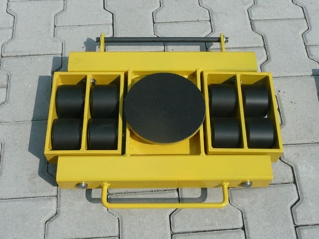 12235602 Wózek skrętny 8 rolkowy, rolki: 8x nylon (nośność: 6 T)