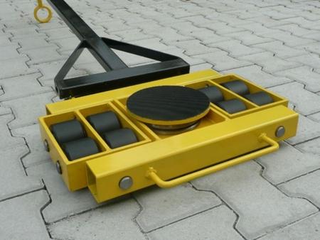 12235604 Wózek skrętny 8 rolkowy, rolki: 8x stal (nośność: 12 T)