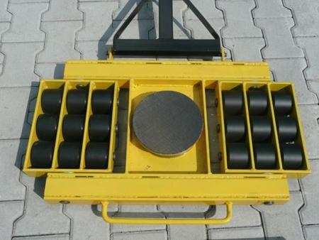 12235609 Wózek skrętny 18 rolkowy, rolki: 18x nylon (nośność: 14 T)