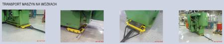 12235629 Zestaw wózków, rolki: 36x stal (nośność: 2x18 ton + 28 ton przód = 64 tony)