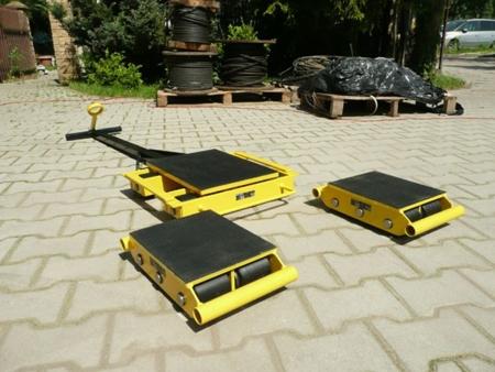 12235632 Zestaw wózków z prostokątną płytą nośną, rolki: 20x stal (nośność: 36 T)