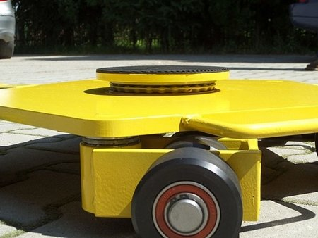 12258871 Wózek rotacyjny z płytą obrotową, rolki: 15x nylon (nośność: 5 T)