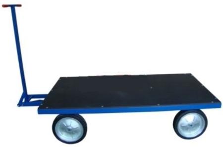 13340565 Wózek platformowy ręczny RS (koła: pełna guma 400 mm, nośność: 1500 kg, wymiary: 1000x2000 mm)