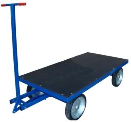 13340567 Wózek platformowy ręczny RS (koła: pneumatyczne 300 mm, nośność: 1500 kg, wymiary: 1000x2000 mm)