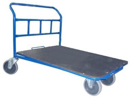 13340590 Wózek platformowy ręczny jednoburtowy 1BWS (koła: pełna guma 160 mm, nośność: 400 kg, wymiary: 1000x600 mm)