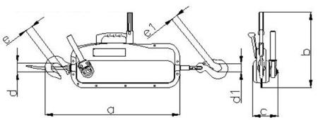 DOSTAWA GRATIS! 2203106 Wciągnik linowy 30.10/0.8t (długość liny: 20m, udźwig: 0,8 T)