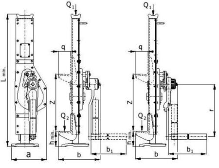 2203124 Podnośnik korbowy Z23/20.0t (udźwig: 20 T)