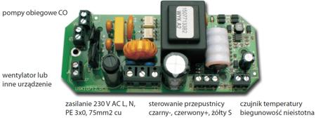 30041764 Mikroprocesorowy sterownik kominka z przepustnicą fi 100 glass