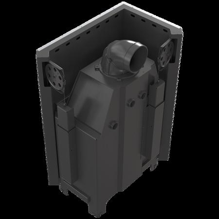 30053243 Wkład kominkowy 15kW MBO 15 BS Gilotyna (lewa boczna szyba bez szprosa, drzwi podnoszone do góry)