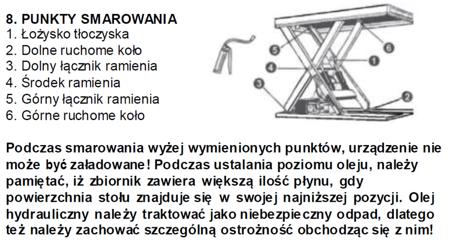 3109773 Stół podnośny elektryczny (wymiary platformy: 850x1300mm, udźwig: 2000 kg)
