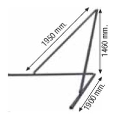 37515646 Podpory do masztu długiego PREME P 1kpl/2szt (wymiary: 1950mm x 1900mm x 1460mm)