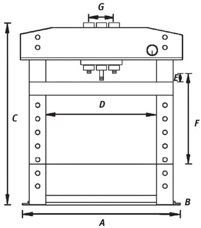 44340223 Prasa hydrauliczna Unicraft WPP 10 TE (siła nacisku: 10 t)