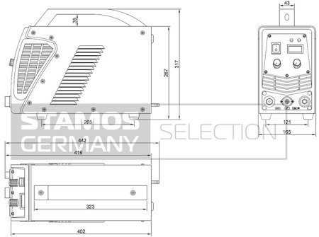 45643383 Przecinarka plazmowa Stamos S-PLASMA 55H, 230V, 1-Fazowe (prąd tnący: 10-55A. grubość /szerokość cięcia: 16 /1mm)