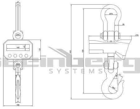 45643496 Waga hakowa Steinberg Systems SBS-KW-5/2K LED (udźwig: 5T)