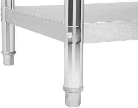 4564351 Stół roboczy ze stali nierdzewnej bez kantu Royal Catering RCAT-120/70 (wymiary: 120 x 70 x 85 cm)