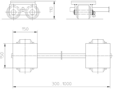 4993988 Podwozie transportowe F3 (nośność: 3T)