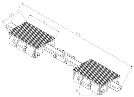 4993992 Podwozie transportowe F9 (nośność: 9T)