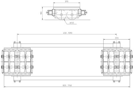 4994002 Podwozie transportowe F40 (nośność: 40T)