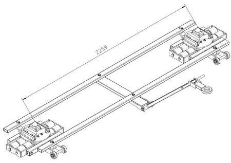 49942932 Podwozie tandemowe cointainer TL12 (nośność: 12T)