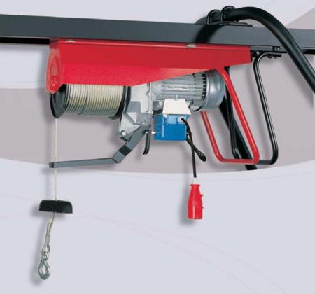 55547218 Wciągarka budowlana elektryczna Bellussi HE 500 TF CED + zdalne sterowanie z niskim napięciem (udźwig: 500 kg, długość liny: 25m)