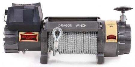 55937777 Wyciągarka samochodowa Dragon Winch Highlander DWH 15000 HD 12V hamulec dynamiczny, z liną stalową 28m (udźwig: 15000 lb/ 6803 kg, silnik: 9KM)