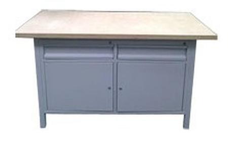 77156919 Stół warsztatowy, 2 szuflady, 2 szafki (wymiary: 1500x750x900 mm)