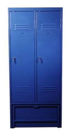 77157025 Szafa odzieżowa z ławką chowaną, 2 drzwi (wymiary: 1900x800x480 mm)