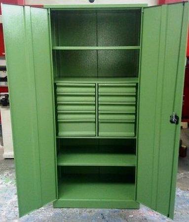 77157224 Szafa narzędziowa, 10 szuflad, 2 półki (wymiary: 2000x900x500 mm)
