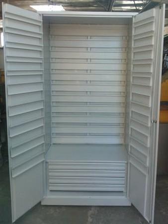 77157257 Szafa narzędziowa na pojemniki, 4 szuflady, bez pojemników (wymiary: 2000x900x500 mm)