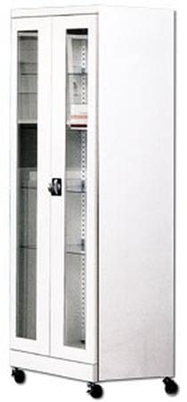 77157315 Szafa laboratoryjna-lekarska na kółkach, 4 półki, 2 drzwi (wymiary: 1800x600x440 mm)