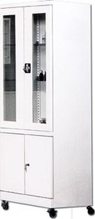 77157318 Szafa laboratoryjna-lekarska na kółkach, 4, półki, 4 drzwi (wymiary: 1800x800x440 mm)