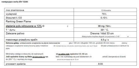 86829179 Piec wolnostojący Invicta 14kW Gomont (kolor: antracyt)