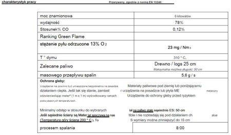 86854931 Piec wolnostojący Invicta 6kW Norik (górna, tylna średnica wylotu spalin: 150mm, kolor: antracyt)
