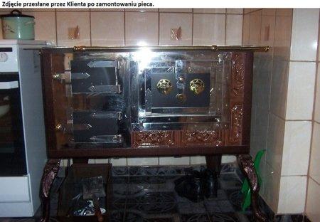 92238167 Kuchnia kaflowa 11kW Dominika (kolor: brąz)