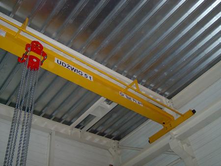 95848210 Wciągnik łańcuchowy przejezdny WŁ-05 EX - wersja przeciwwybuchowa (udźwig: 0,5 T, wysokość podnoszenia: 3m)