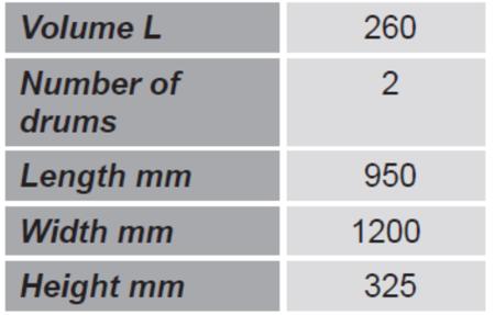 99724714 Paleta do transportu beczek GermanTech (ilość beczek: 2, wymiary: 950x1200x325 mm)