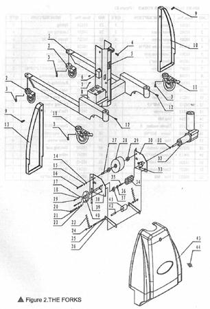 99724810 Wózek podnośnikowy z podestem elektryczny GermanTech LV-150 (max wysokość: 1550 mm, udźwig: 150 kg)