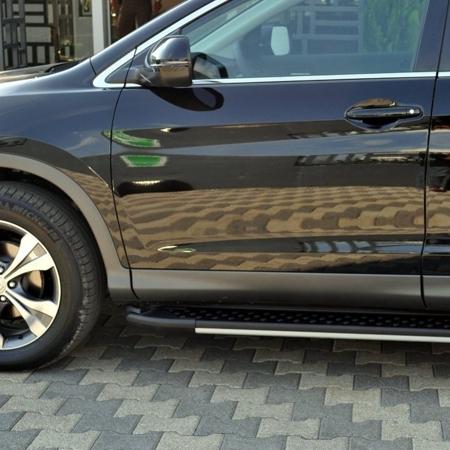 DOSTAWA GRATIS! 01656110 Stopnie boczne, czarne - Hyundai SantaFe 2012- (długość: 171 cm)