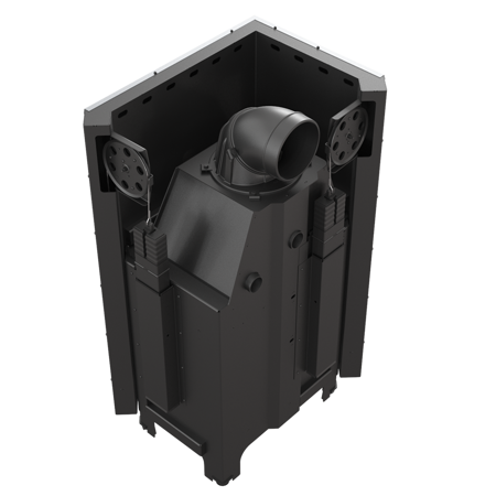 DOSTAWA GRATIS! 30053247 Wkład kominkowy 13kW MBZ 13 BS Gilotyna (lewa boczna szyba bez szprosa, drzwi podnoszone do góry) - spełnia Ekoprojekt