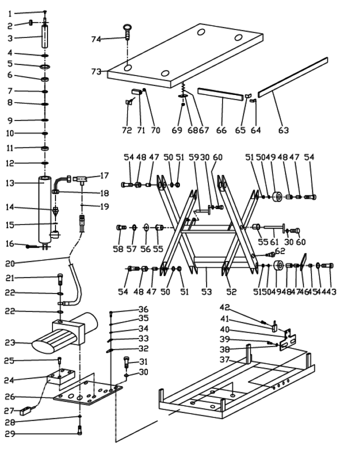 DOSTAWA GRATIS! 3109773 Stół podnośny elektryczny (wymiary platformy: 850x1300mm, udźwig: 2000 kg)